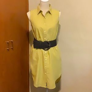 UNITED BY BLUE cotton button down shirtdress Sz S